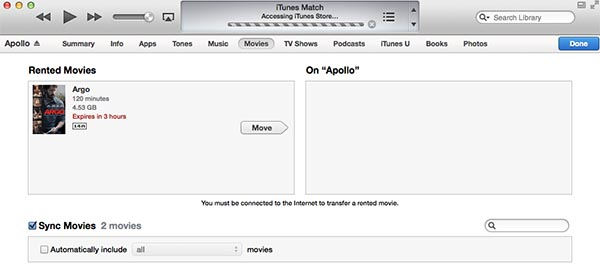 Renting movies in iTunes for more flexibility
