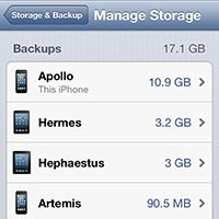 Freeing up storage in iCloud 1