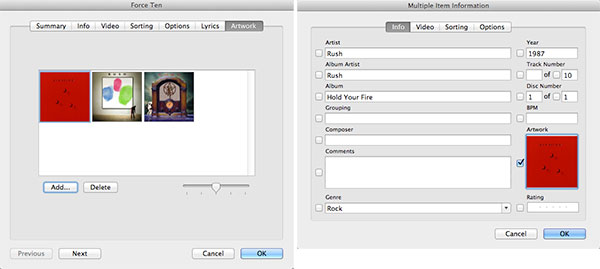 Manually adding artwork in iTunes 11