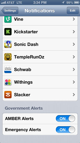 Configuring Emergency Alerts on the iPhone