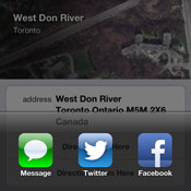 Share Current Location in iOS Maps App