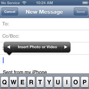 Add Photos to iOS Email Messages