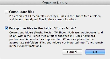 Transferring your iTunes Library 5