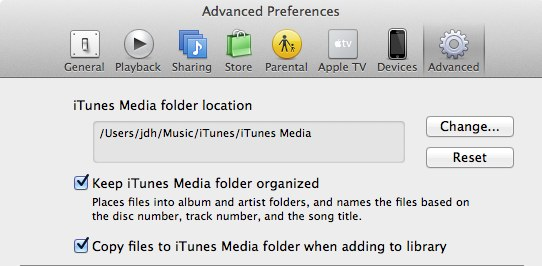 Transferring your iTunes Library 1