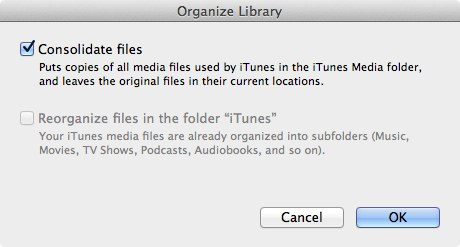 Transferring your iTunes Library 10