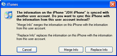 Transferring contacts from iPod touch to a second computer