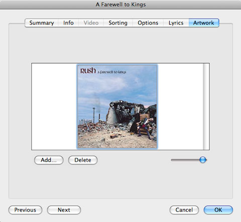 Removing photos and album artwork from iTunes