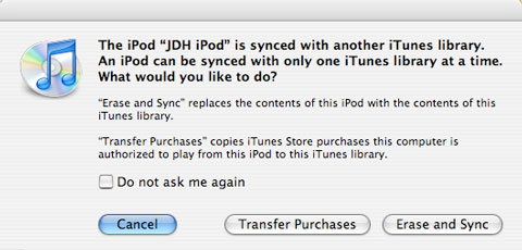 Pre-loading a gift iPod on another computer
