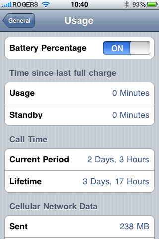 Battery Percentage Display on iPhone 3.0