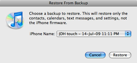 Transferring saved application data to new iPhone