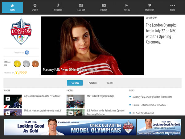 Enjoy 2012's Summer Olympics With Your iPad Or iPhone 1
