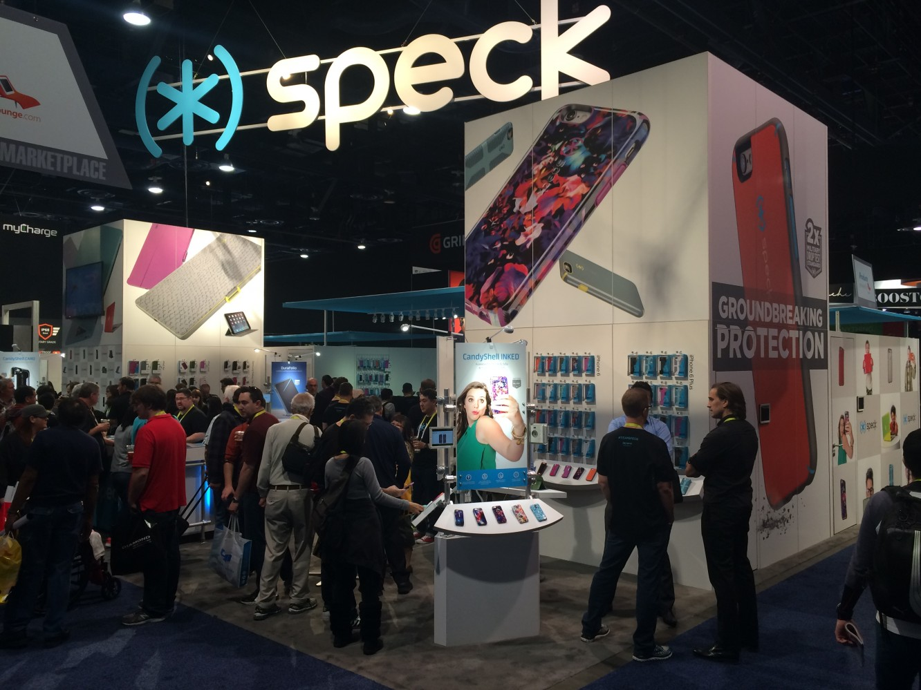 The Booths of the iProducts Marketplace at CES 2015
