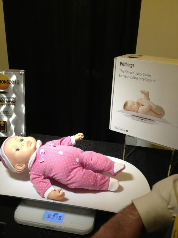 Withings at 2012 CES: Wireless Baby Scale