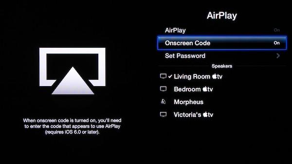 Apple tv Settings Menu Apple Tv's Settings Menu