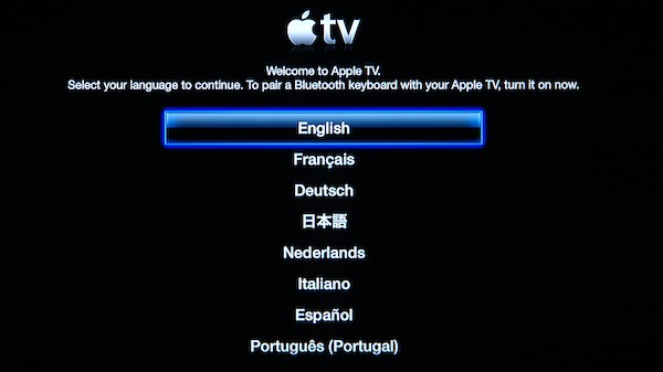 Apple tv Settings Screen Setting up a New Apple tv