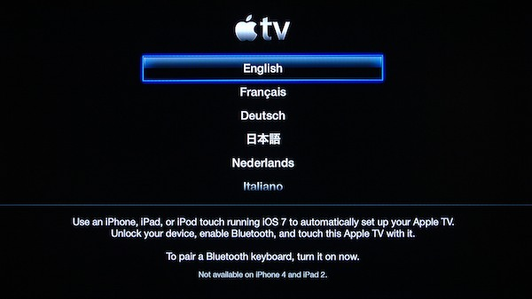 Apple tv Network Settings Network Settings Apple id