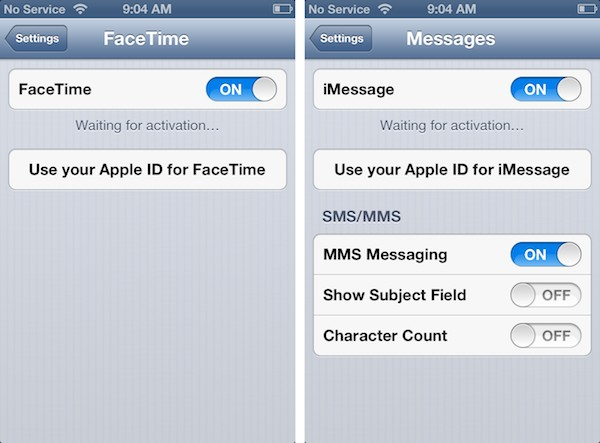 Making International iMessage and FaceTime connections