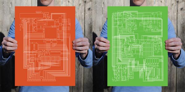 City Prints Apple I + II Schematic Prints 1