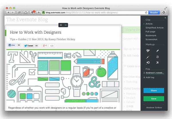 Evernote Web Clipper For Mac