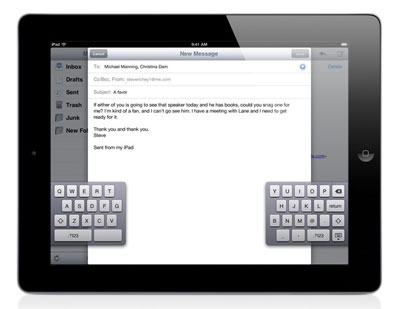 New in iOS 5: Accessibility Changes, iPad Gestures + Split Keyboard 1