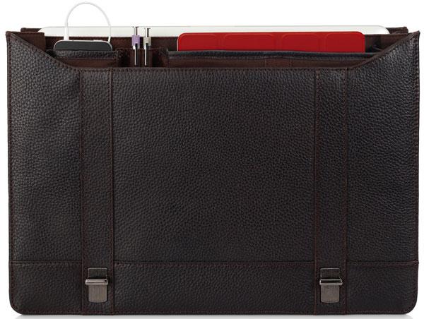 Kenneth Cole New York Pebble Grain Leather Flapover Portfolio