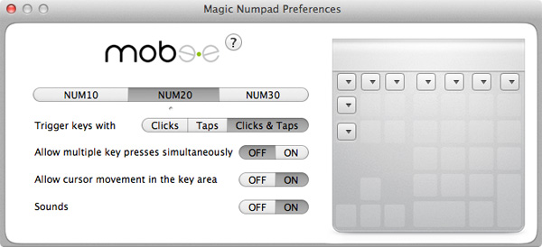 Mobee Technology The Magic Numpad