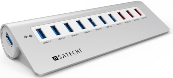 Satechi 10 Port USB 3.0 Premium Aluminum Hub 70