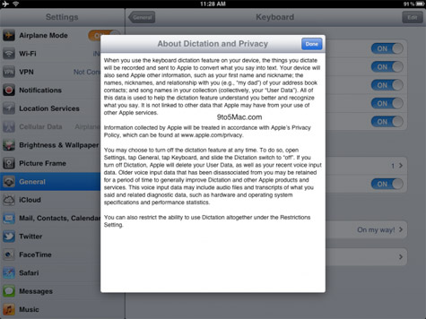Siri dictation for iPad referenced in iOS 5.1 beta 3 1