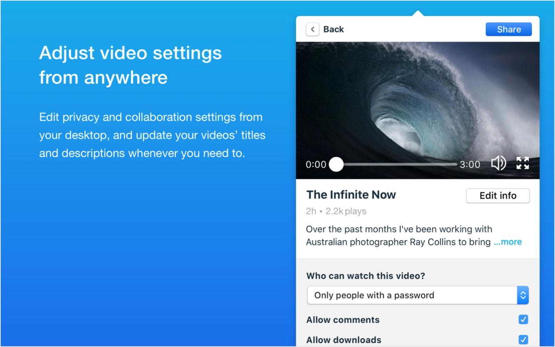 Vimeo for macOS