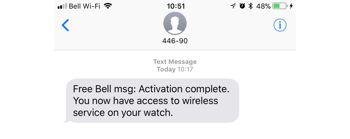 Activating Cellular Service on the Apple Watch Series 3