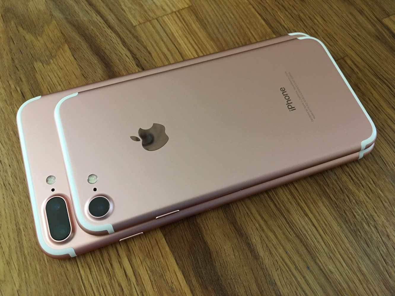 Apples Newest IPhones Have Arrived And Weve Posted Unboxing Photos Of The IPhone 7 Plus Both Seen Here In Rose Gold