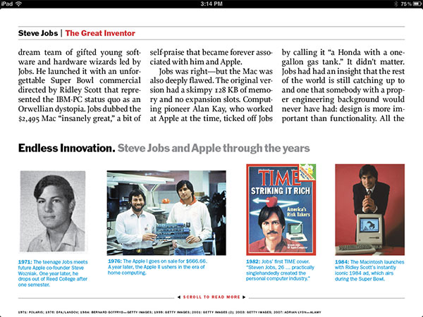 iPad Gems: Steve Jobs Editions Of Bloomberg Businessweek+, Fortune, Time + Wired 12