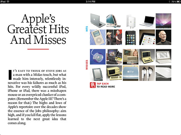 iPad Gems: Steve Jobs Editions Of Bloomberg Businessweek+, Fortune, Time + Wired 15