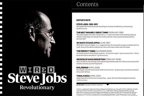 iPad Gems: Steve Jobs Editions Of Bloomberg Businessweek+, Fortune, Time + Wired 16