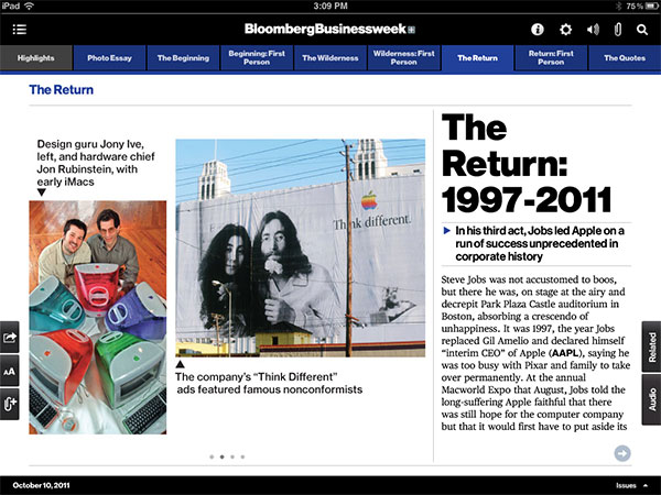 iPad Gems: Steve Jobs Editions Of Bloomberg Businessweek+, Fortune, Time + Wired 5