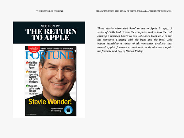 iPad Gems: Steve Jobs Editions Of Bloomberg Businessweek+, Fortune, Time + Wired 9