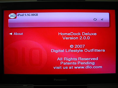 Review: DLO HomeDock Deluxe (2007) Entertainment Dock with On-TV Navigation for iPod