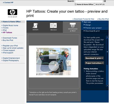 Review: HP Printable Tattoos