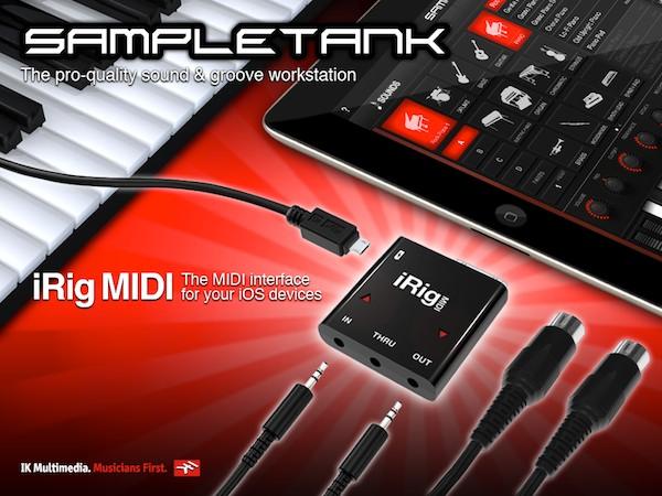 Review: IK Multimedia iRig MIDI + SampleTank for iOS 7