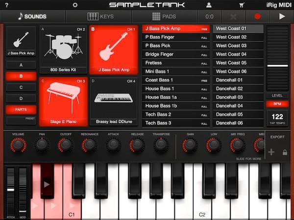 Review: IK Multimedia iRig MIDI + SampleTank for iOS 8