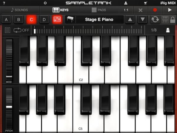 Review: IK Multimedia iRig MIDI + SampleTank for iOS 10