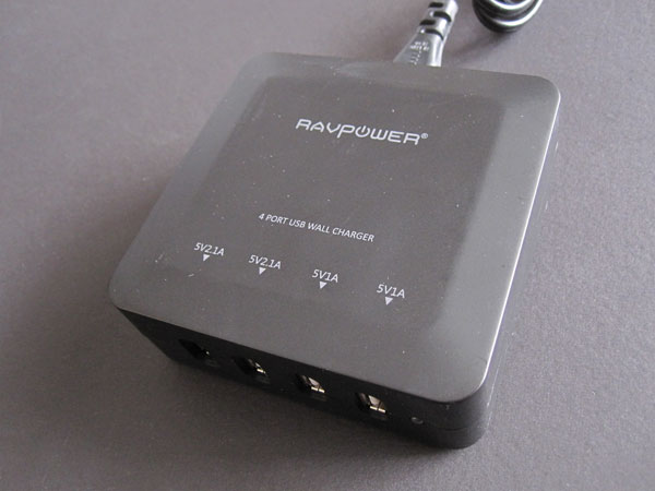 Review: RAVPower 4-Port Wall Charger