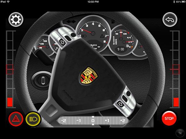 SilverLit Porche 911 Carrera Control Panel View