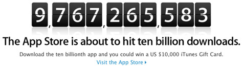 Apple launches 10 Billion App Countdown 1