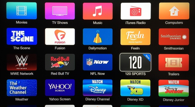 Apple TV adds 120 Sports channel