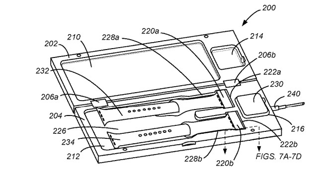 Apple granted patent for wireless charging Apple Watch case that can also charge bands 1