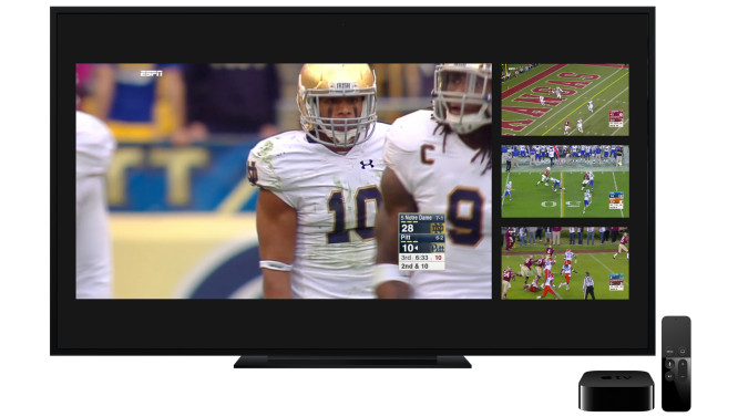 ESPN's Apple TV App lets you stream 4 Games at a time!