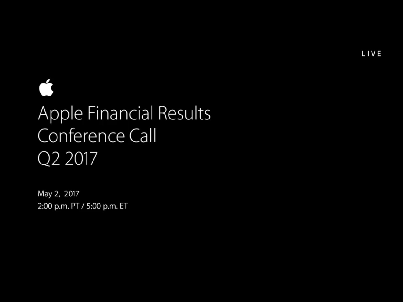 Notes from Apple's Q2 2017 earnings call 1