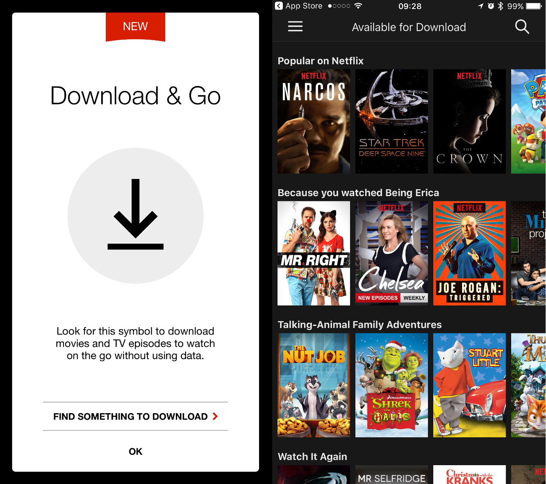 netflix download offline viewing iphone