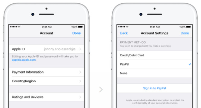 Ability to use PayPal to pay for Apple downloads and services expanded internationally 1